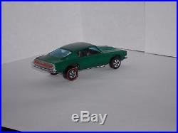 1968 Hot Wheels Redline Custom Barracuda H. K. Drk. Green withdrk. Int SUPER CLEAN