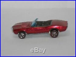 1968 Hot Wheels Redline Custom Firebird H. K. Red withbrn int. SUPER NICE