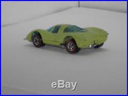 1973 Hot Wheels Redline Porsche 917 H. K. Lime Green Fluorescent VERY MINTY