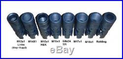 3-Kammern Mündungsbremse Mündungsfeuerdämpfer speziell für H&K MR308 und MR223