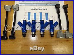 4x New OEM Denso Acura RDX 410cc Fuel Injectors withAdapters Flow Sheet Included