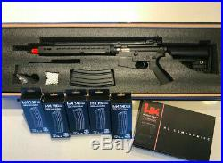 Airsoft CYMA Keymod Full Metal AEG + 5 Highcap M4 Mags + Airsoft H&K USP AEP
