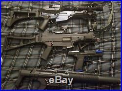 Airsoft lot H&K Family USP, UMP, G36C, MP5SD