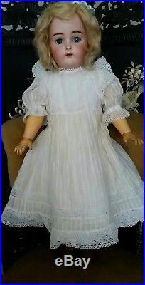 Antique Beautiful S & H/ K & R Bisque Head Doll 24tall