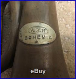 Antique Brass A. H. K. Bohemia Rotary Valve Cornet / Flugelhorn