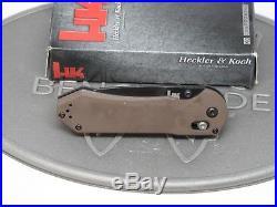 Benchmade H&K 14715BK-1 Sand Axis G10 D2 Folding Knife Heckler Koch USA