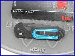 Benchmade H&K 14715BK Black Axis G10 D2 Folding Knife Heckler Koch NOS USA