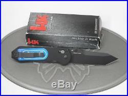 Benchmade H&K 14717BK Tanto Black Axis G10 D2 Folding Knife Heckler Koch US
