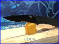 Benchmade H&K Nitrous Blitz Combo Blade (Discontinued Knife)