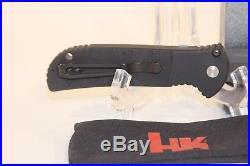 Benchmade HK Heckler & Koch Combo Knife NOS Aluminum Handle Lock Mechanism