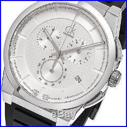 Calvin Klein Men's Dart Chronograph Swiss Quartz Rubber Strap Watch K2S371D6