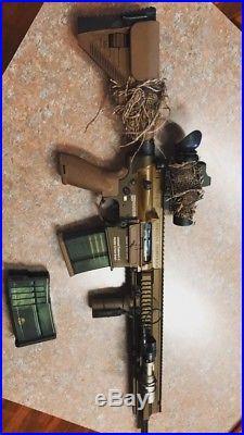 Elite Force G28 airsoft gun TAN H&K USED