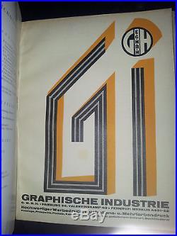 H. K. Frenzel Gebrauchsgraphik Monatsschrift (Vierter Jahrgang) Hefte 7 bis 12