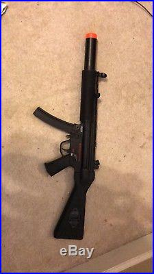H&K Full Metal MP5 SD5 Covert AEG Airsoft Submachine Gun, With Extras