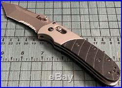 HK / Benchmade HK34FTC / 14250S Axis Lock Combo Edge Modified Tanto Black