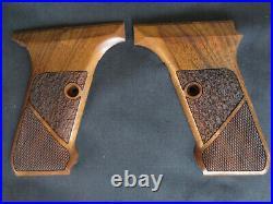 HK P7 M10/M13 ONLY Fine English Walnut Checkered/Textured Pistol Grips NO Logo