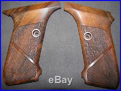 HK P7 M10/M13 ONLY Fine English Walnut Checkered/Textured Pistol Grips withLogo