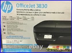 HP OfficeJet 3830 Wireless All-In-One Instant Ink Ready Inkjet Printer Black