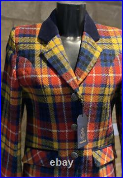 Harris Tweed Hand Woven Ladies Pure New Wool Modern Jacket Size 8,10,12,14