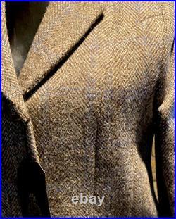 Harris Tweed Hand Woven Ladies Pure New Wool Modern Jacket Size 8,10,12,14,16