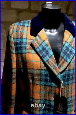 Harris Tweed Hand Woven Pure new Wool Ladies Country Blazer Size8,10,14,16,18,20