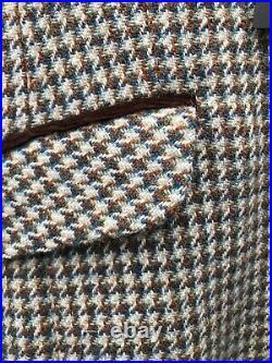 Harris Tweed Hand Woven Pure new Wool Ladies Country BlazerJacket S-12 Or 14