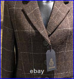 Harris Tweed Hand Woven Pure new Wool Ladies Country Jacket Size10,12,14,16,18