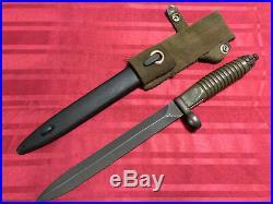 Heckler & Koch H&k G3 Iran Rifle Bayonet And Scabbard Mint