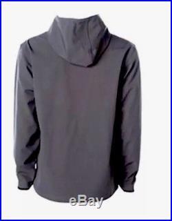 Heckler Koch HK Logo Hooded GRAY Soft Shell Jacket Waterproof Special Ops LARGE