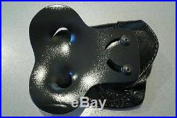 High Noon Holsters, Speedy Spanky, R/H Black Paddle Holster leather H&K P30 3.86