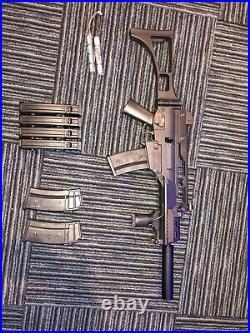 KWA Heckler & Koch Licensed G36C Airsoft Gun 6 Magazine And Battery
