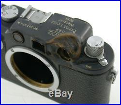 LEICA IIIc grey grau W. H. K bullet Kugel 1944 WW II vintage original 391474K