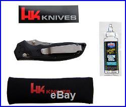Messer Heckler & Koch von Hogue 154CM 8,3cm Stonewash HK Pistolen Design Pivot