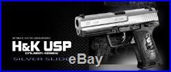 NEW Tokyo Marui H&K USP SILVER SLIDE Automatic Electoric Airsoft Gun F/S