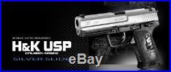 NEW Tokyo Marui H&K USP SILVER SLIDE Automatic Electoric Airsoft Gun Japan F/S