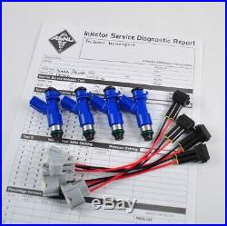 New OEM Denso Acura RDX 410cc Fuel Injectors withPlug & Play Adapters for Honda