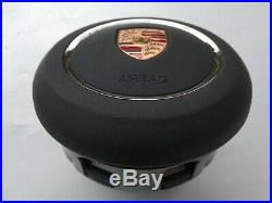 PORSCHE 911 BOXSTER CAYMAN CAYENNE MACAN PANAMERA driver's AIRBAG smoth LEATHER