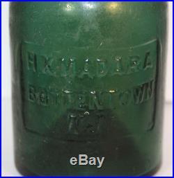 Rare Green Iron Pontil H. K. Madara Battentown N. J