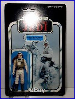 STAR WARS-1983-Palitoy-RoTJ-LUKE SKYWALKER-Hoth-H. K-45 Back-MOC-Vintage-AFA-c/90
