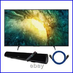 Sony KD55X750H 55 inch 4K UHD Smart LED TV with HDR and Wireless Soundbar Bundle
