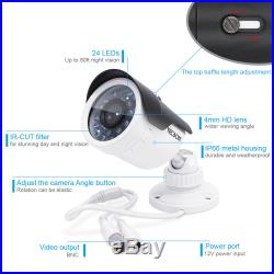 Tecbox Home Security Camera System HDMI AHD DVR 8 CH 720P 1.3MP Indoor/Outdoor