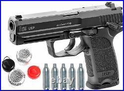 Umarex H&K USP 45 CO2 Blowback AirGun Pistol. 177Cal +5CO2 +1500 Steel BBs 4.5mm