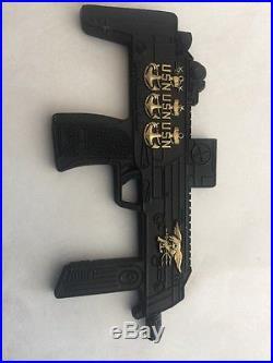 Usn Navy Seals H&k Hk Mp7 Mp 7 Machine Gun Military Sf Challenge Coin Cpo Chief
