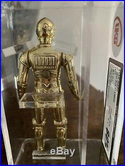 VINTAGE STAR WARS, 1977 UKG 80% C-3PO (Solid Limbs) H. K, Not AFA (85 Sub)