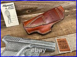 Vintage Alfonsos Brown Leather Suede Lined Holster For HK P7 PSP Right H&K