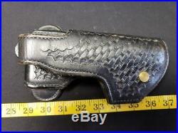 Vintage Davis Leather Right Hand Black Police Holster HK P7 H&K Heckler Koch