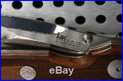 Vintage Heckler & Koch Model HK X-15-TN Folding Knife #255 P7 M8 WOOD HANDLE