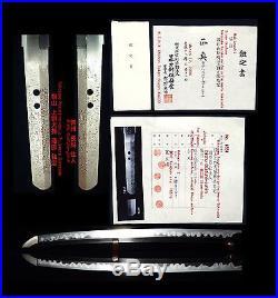 WAKIZASHI ANTIQUE JAPANESE SWORD 41.0cm N. T. H. K SIGNED SUKESADA EARLY-EDO