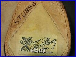 WWII US Navy Officer Hat Capt H K Stubbs Beautiful left facing bullion eagle